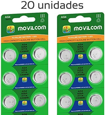 20 Knopfzellen Ag4 Uhrenbatterien 1 5 V Ersetzt 377 377a Lr626 V377 377s D377 Sr626sw