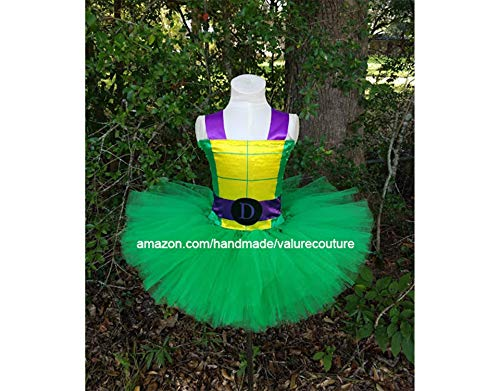 Teenage Mutant Ninja Turtles Inspired Tutu Dress Costume Birthday Pageant Halloween Girls Newborn Infant Toddler Baby Outfit Onesie Shirt Bow Party Princess Kids Gift Topper Favors]()