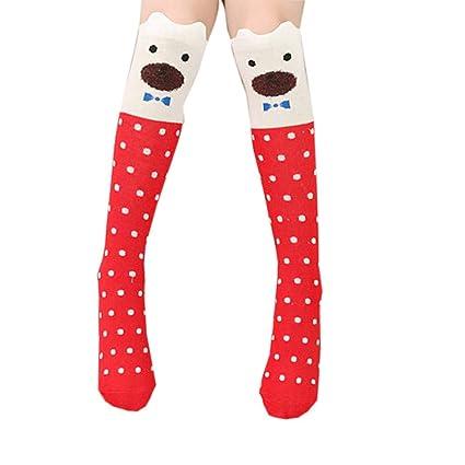8960843a323355 Pausseo Baby Girls Toddler Cute Animal Cartoon Bear Winter Thicker Warm  Anti-Slip Long Printing
