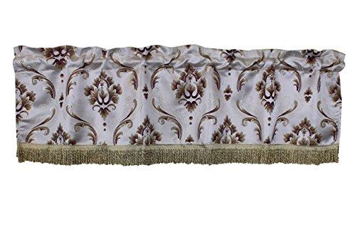(Violet Linen VL-68837-BOUTIQUE-VAL-BUR Vintage Collection Luxurious Boutique Window Valance, 60