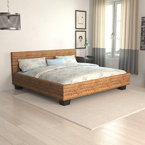 Bett Erwachsene aus Abaca Hand geflochten Rattan 180x 200cm