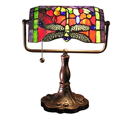 Stella Accent Lamp (Whse of Tiffany 305R/BTL Warehouse of Tiffany Stella 12 inch Red Dragonfly Accent Lamp)