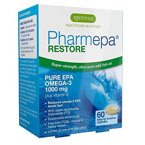 Pharmepa Restore Pure EPA Omega3 Fish Oil 1000mg EPA per Serving Mood  Heart 60 softgels