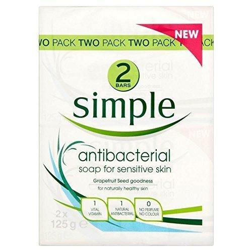 Simple Antibacterial Bar Soap for Senstive Skin (2x125g)