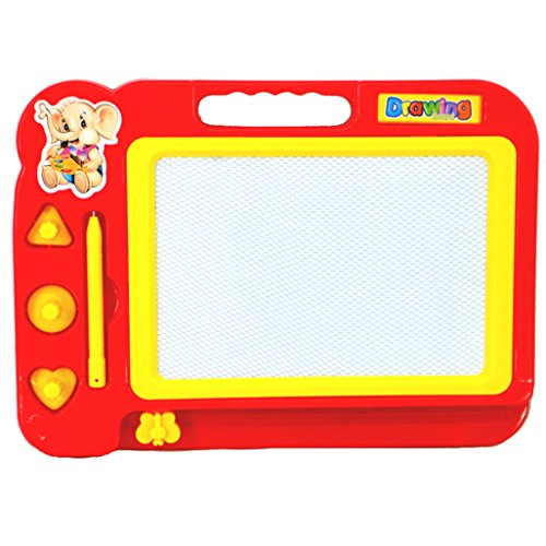 Goodtrade8 Gotd Kids Colorful Magnetic Writing Painting Drawing Graffiti Board Toy Preschool Tool Red
