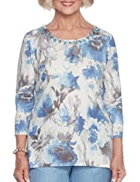 Amazon Com Alfred Dunner Blouses Button Down Shirts Tops