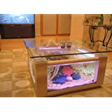 Amazoncom Gallon Aqua Coffee Table Aquarium Tank Kitchen Dining - 25 gallon aqua coffee table aquarium tank