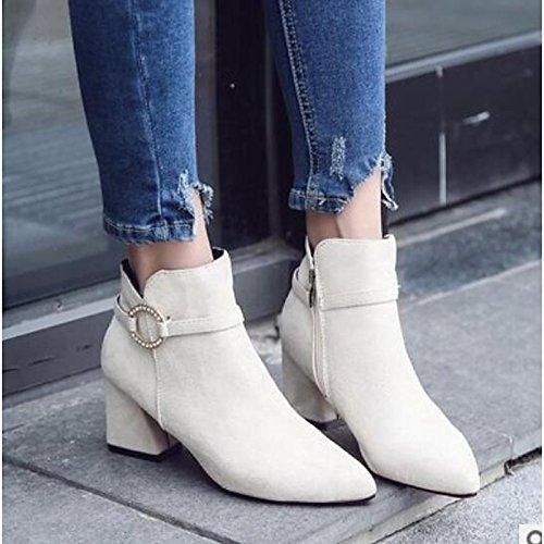 casual nero per invernali pelle scarpe donna ZHZNVX Hsxz stivali Beige comfort beige ngO8qxHvw0
