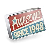 Floating Charm Awesome since 1948, Birthday/Year Fits Glass Lockets, Neonblond