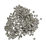 300 X Mixed 8 mm Plastic Alphabet Letter Beads with thread loop in Silver Effect Colours by Kurtzy - Great For Bracelet and Necklace Making - Perfect Pack Size for Adults and Kids