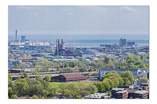 New Haven, Connecticut - Aerial Skyline - Photography A-95792 95792 (20x30 Premium 1000 Piece Jigsaw Puzzle, Made in USA!)