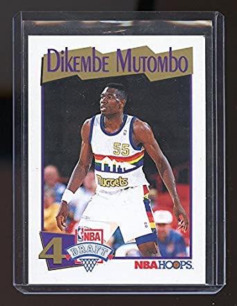1991-92 Hoops  549 Dikembe Mutombo Denver Nuggets Rookie Card- Mint  Condition Ships fe30eeac2