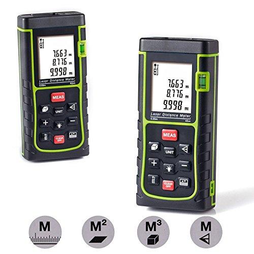 Laser Distance Meter,Handheld Range Finder Meter,Portable Measuring Device,Area/Volume/Distance/Pythagoras...