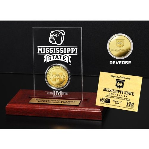 (The Highland Mint NCAA Mississippi State Bulldogs Etched Acrylic Coin, 9