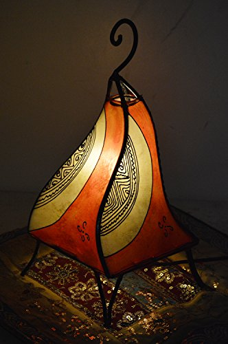 Henna Lamps & Sconces Moroccan Handmade Leather lamp henna tattoo African Beige Orange