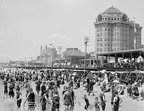 T Shirt Iron On 8 x 10 Bathers, Atlantic City, New Jersey, 1905-1920