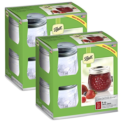 Ball Collection Elite Half-Pint 8 oz Regular Mouth Jam Jars (8-Count) ()