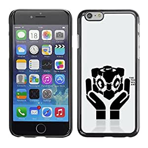 Be Good Phone Accessory // Dura Cáscara cubierta Protectora Caso Carcasa Funda de Protección para Apple Iphone 6 // Love Heart Hands Message