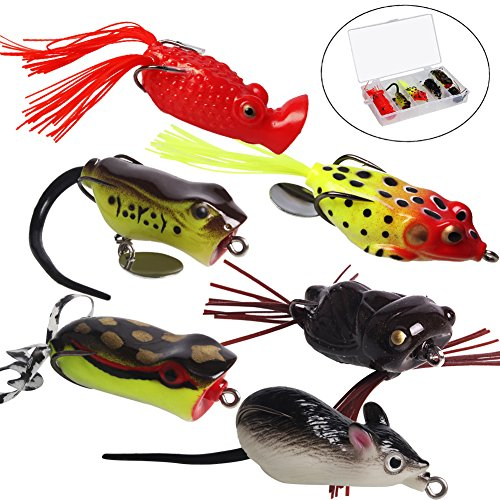 Sougayilang bass fishing lures topwater spoons soft for Bass fishing lure kits