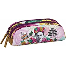 FRIDA KAHLO Pencil Case Pouch Oval Double Zipper Great Quality ...