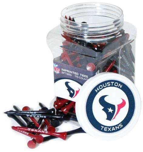 "Team Golf NFL Houston Texans 2-3/4"" Golf Tees, 175 Pack, Regulation Size, Multi Team Colors"