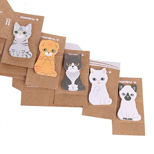 Cat Dog Sticker Bookmark Point It Marker Memo Post Flags Sticky Notes 5pcs/set
