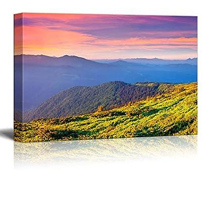 Landscape Colorful Summer Sunrise in The Carpathian Mountains...