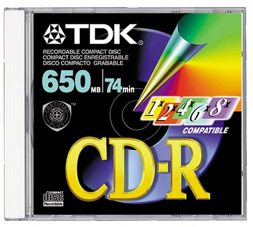 TDK CD-R74MGAX CD-R, 74 Minute, 650 MB (Single with Jewel Case) (Discontinued by Manufacturer)