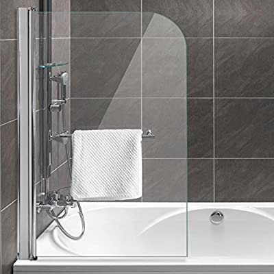 Home Lux – Mampara para bañera plegable pared faltdusch pared (B X H) 80 x 130 cm, cristal de seguridad 6 mm con efecto lotus: Amazon.es: Hogar