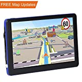 JRCX Car GPS, 7 inch 8GB Real Voice Vehicle GPS Navigator, Navigation System for Cars, Lifetime Map Updates, Car Charger & On-dash Mount Included
