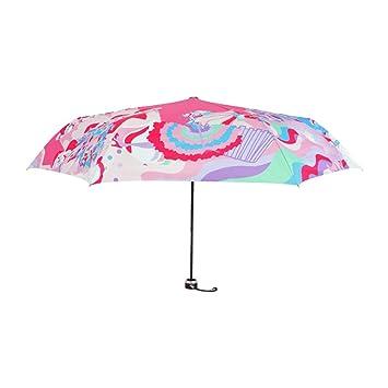 WJCGX Señoras Ligeras 30 por Ciento Sol Paraguas De Moda Al Aire Libre Esqueleto Paraguas Paraguas Duraderos: Amazon.es: Deportes y aire libre