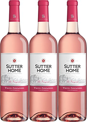 NV Sutter Home White Zinfandel 3 Pack, 3 x 750 mL Wine
