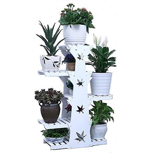 Solid Wood Flower Stand, Multi-layer Balcony Living Room Interior Modern Minimalist European Green Luo Office Flower Pot Rack Floor