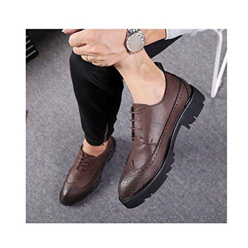 Retro Lacets Brown En Fashion Hommes Casual Chaussures Jeunes Cuir Pointé LYZGF Commerce qCzw0cIxzP
