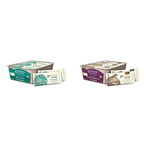 GoMacro MacroBar Organic Vegan Snack Bars - Granola + Coconut (2.0 Ounce Bars, 12 Count) & MacroBar Organic Vegan Protein Bars - Peanut Butter Chocolate Chip (2.4 Ounce Bars, 12 Count)
