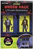 Zombie Window Halloween Decorations