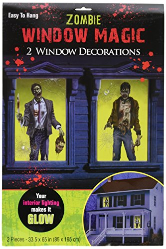 Zombie Window Halloween Decorations