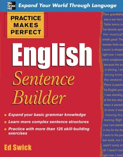 Practice Makes Perfect English Sentence Builder (Practice Makes Perfect Series)