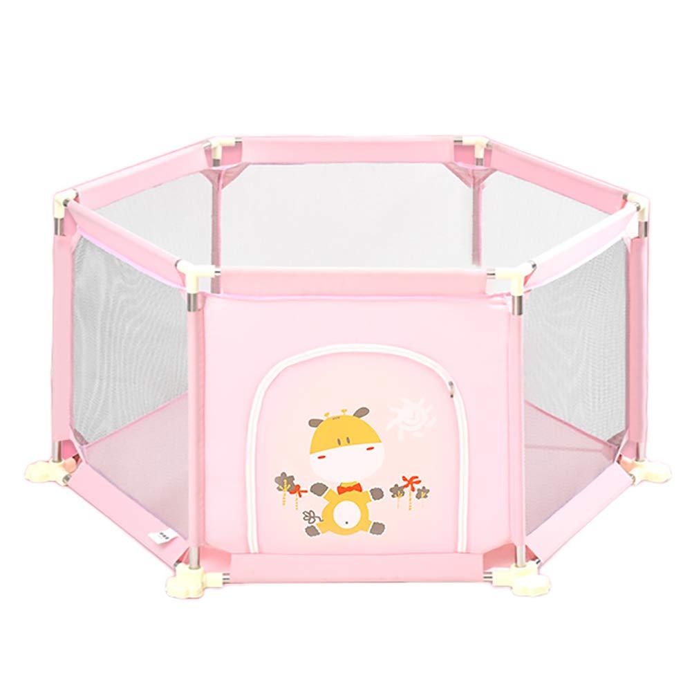 無料配達 ポータブルフェンスベビープレイペンキッズアクティビティセンターリトルボーイとガールズの屋内安全プレイヤード、67 Cm高い Pink (色 : Pink) (色 Pink Pink) B07KRD9W4T, 滑川市:46f7100a --- a0267596.xsph.ru