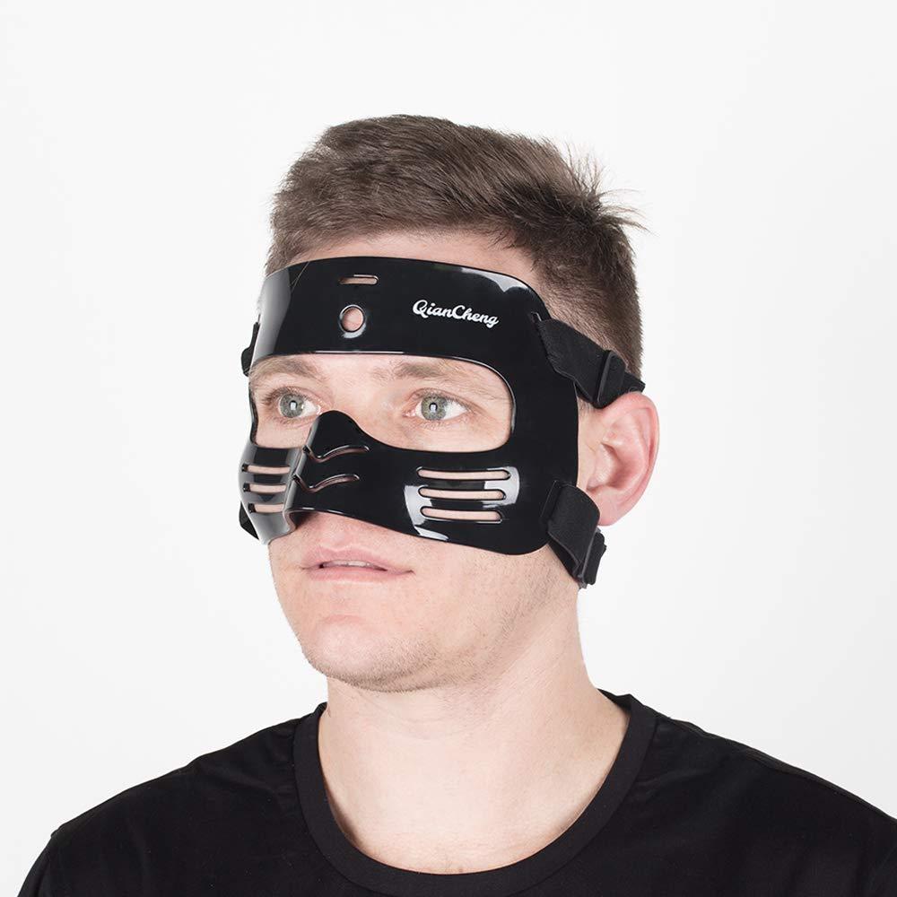 QianCheng Protector de Nariz para la Cara, máscara Protectora L2 Negro con Acolchado de Silicona