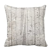 Lightinglife Decorative Home Birch Trees Pillows