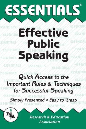 Essentials Effective Public Speaking