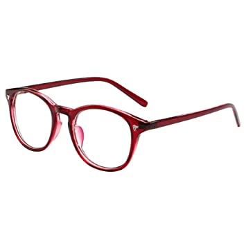 ce158841a0 Image Unavailable. Image not available for. Color  19StyleDollar - Fashion Retro  Vintage Men Women Red Eyeglass Frame Full Rim Glasses Spectacles