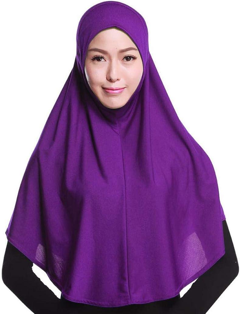 Beautijiam Muslimischer Hijab Amira Islamisch solide weicher Schal lang Hejab Kopftuch