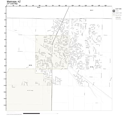 Amazon.com: Working Maps Zip Code Wall Map of Maricopa, AZ ...