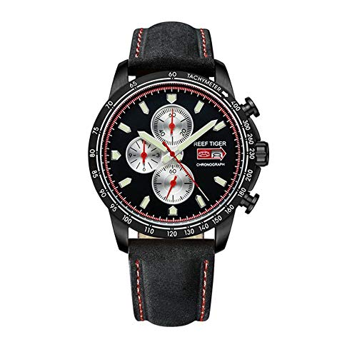 - LiBetyd RT Sport Watch for Men Chronograph Quartz Watch with Italian Calfskin Leather and Super Luminous Watch-RGA3029-BBB