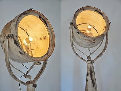Vintage Stehleuchte Standlampe SHIPMAN Suchscheinwerfer Hollywood ...