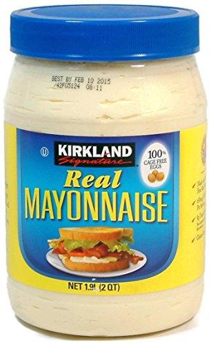 Real Mayonnaise - 2 Quart Jar - Kirkland Signature (64 Oz.) by Kirkland Signature