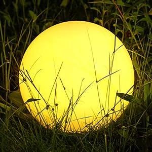 Albrillo RGB Luci Solari Esterno - LED Lampada Solare Esterno Diametro 30 cm con Telecomando, 8 Colori Regolabili, USB… 3 spesavip