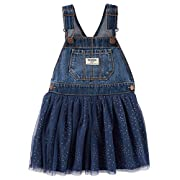 Osh Kosh Baby Girls' World's Best Overalls, Dark Wash/Navy, 12 Months
